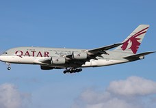 Qatar Airways operates A380 on its Frankfurt route